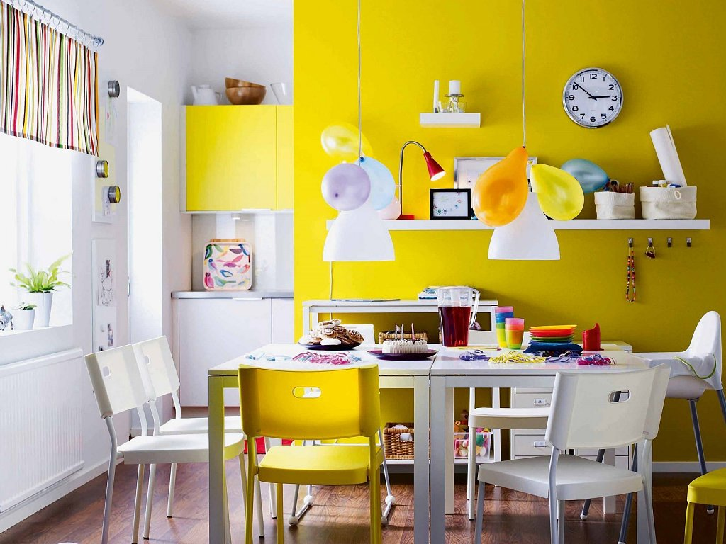 pintar de amarillo la cocina