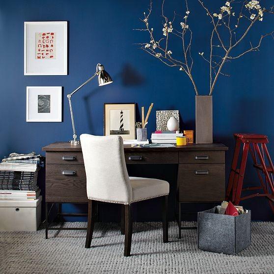 pintar de azul el despacho o estudio