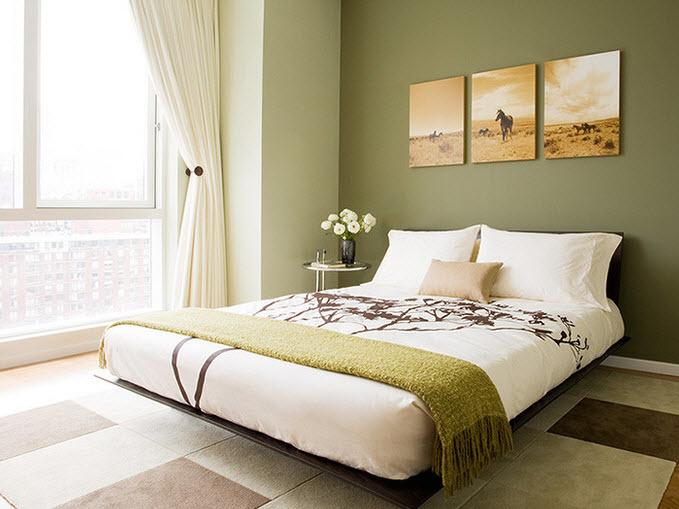 pintar habitación principal de verde